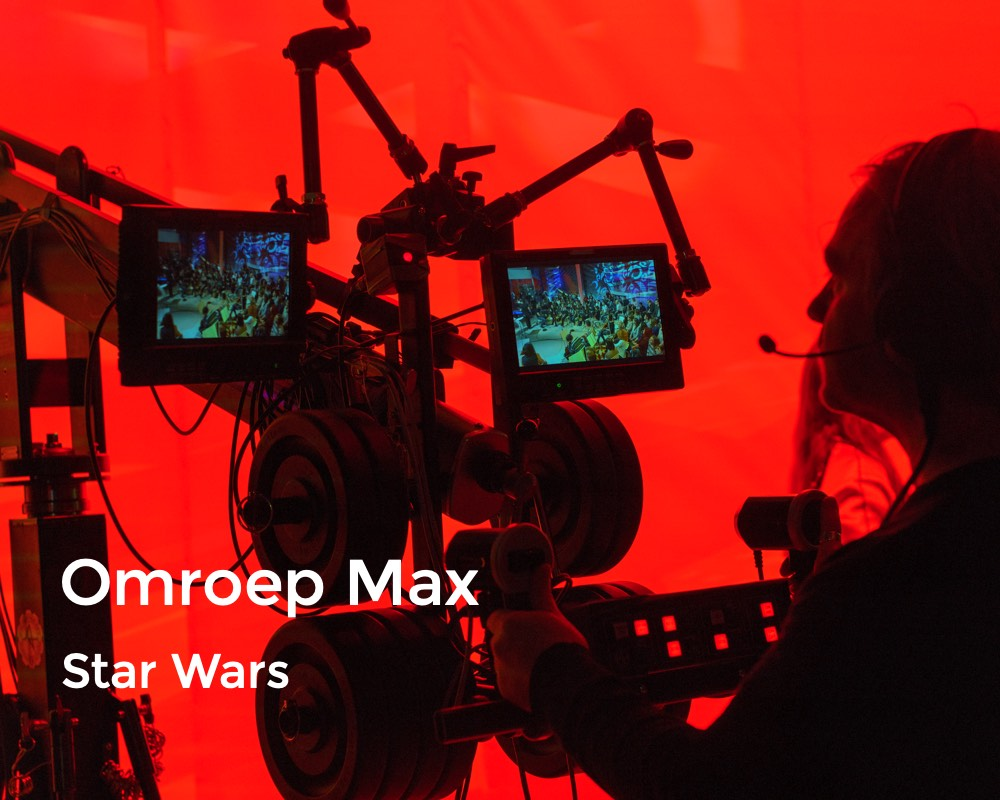 Raymond Janssen with Star Wars at Omroep Max